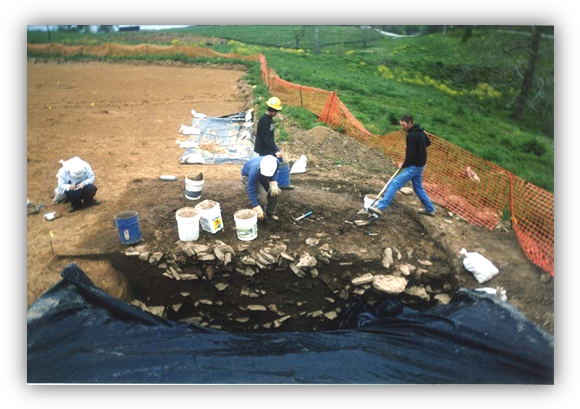 Phase III: Excavation of a large feature in Bath County