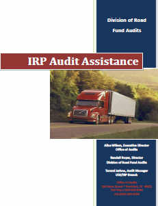 IRP Audit Assistance Manual Cover Photo
