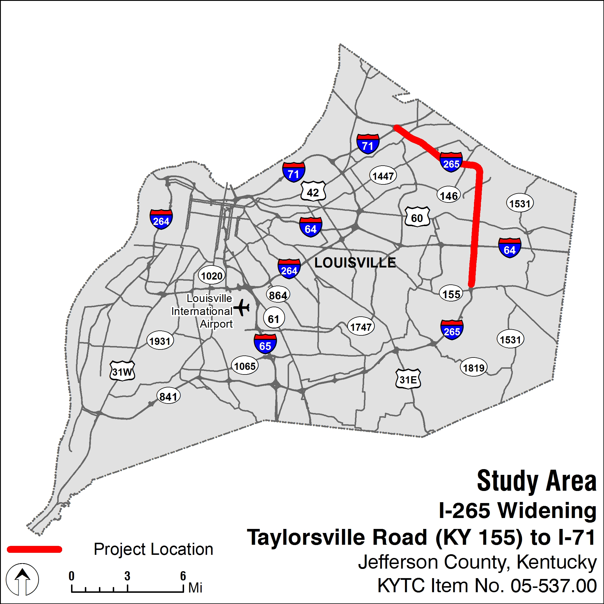 Interstate 265 Widening Project | KYTC on indiana road map, religion percentages in ohio map, westeld in map, interstate 75 map, kentucky county population density map, chicago il to munster indiana map,