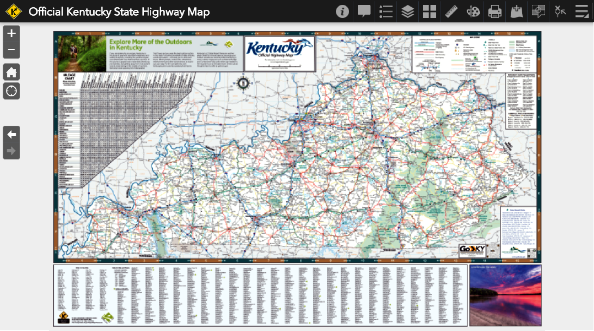 Official Highway Map Kytc