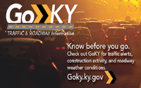 Real Time Traffic and Travel Information, see GOKY.ky.gov